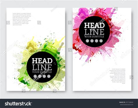 Vector Poster Design Template Business Abstract Stock Vector 257134042 Shutterstock Poster Abstract Template