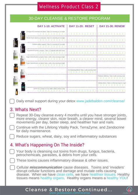 Restore Detox Program by Wellness Class 2 Cleanse Restore Jade Balden