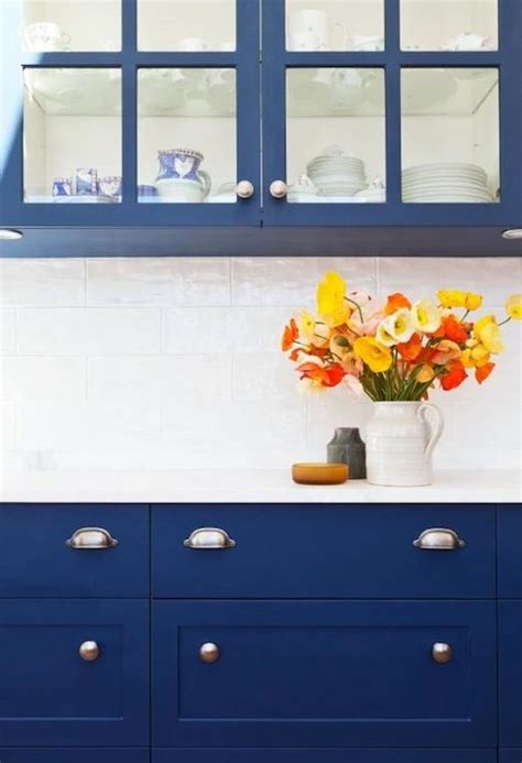 cobalt blue backsplash kitchen contemporary with subway amazing kitchen with cobalt blue cabinets marble