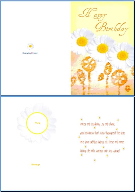 card template ex exle of birthday card for daisies