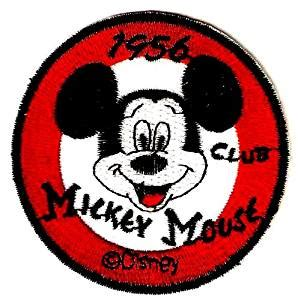 Dijamin Patch Logo Club mickey mouse club logo 1956 mouseketeer embroidered iron on sew on patch disney