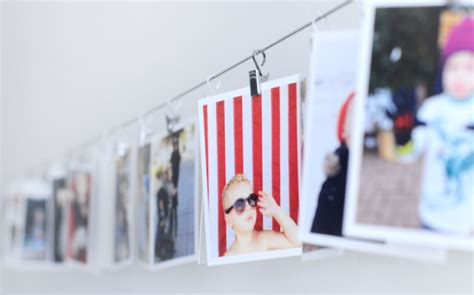 hanging pictures with wire and clips instagram print display diy giveaway closed small fry
