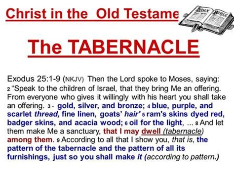 they spoke of me how jesus unlocks the testament books the tabernacle ppt