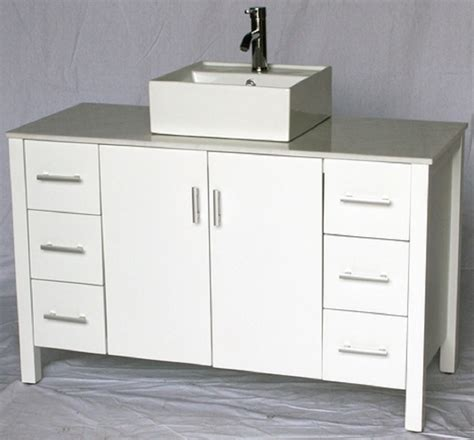 Bathroom Vanities 4 Less by 48 Inch Bathroom Vanity Vessel Sink Top Style White