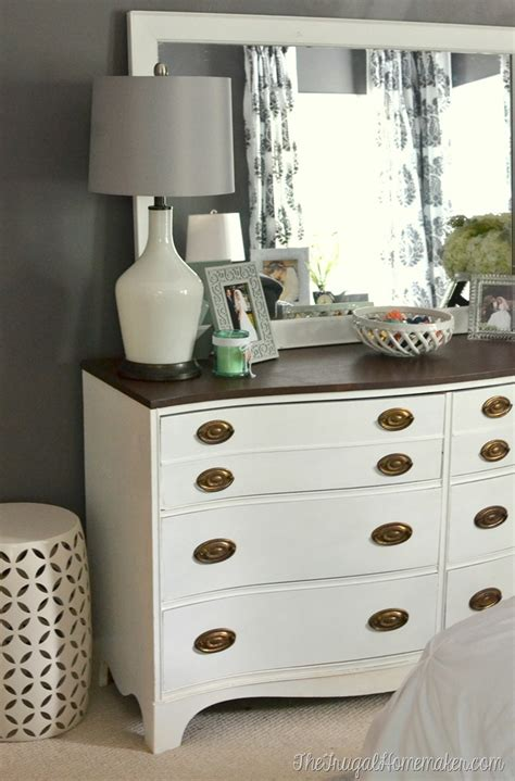 Painted Furniture Bedroom by Painted Dresser And Mirror Makeover Master Bedroom Furniture