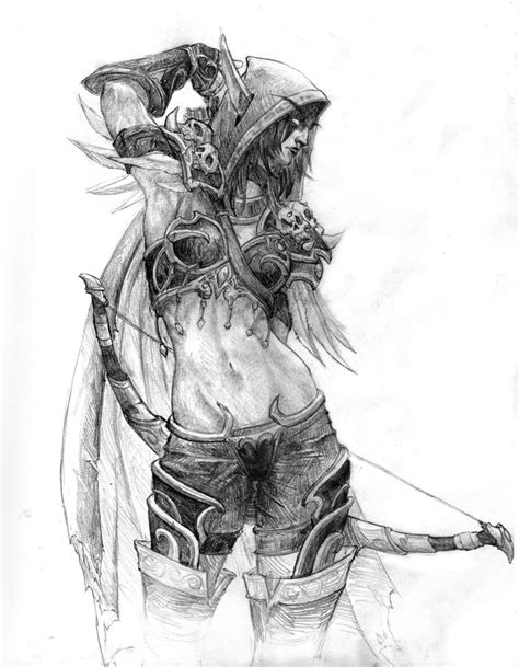 how to draw sylvanas sylvanas windrunner by danmaynard on