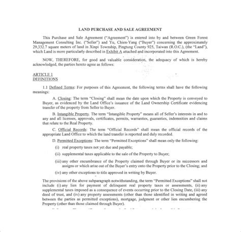 Land Agreement Template 28 Images Free Contract Templates Word Pdf Agreements Land Sales Land Trust Agreement Template