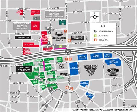 Ticketmaster Floor Plan New Maps Detail Parking Amenities At Little Caesars Arena