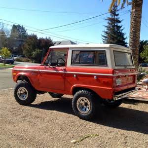 bright orange classic early ford bronco early