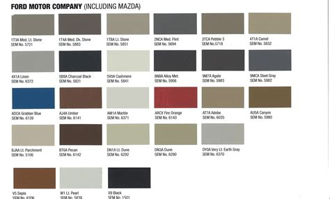 new ford colors interior upholstery paint ford 2014