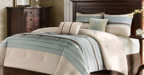 blue and beige comforter set blue beige brown pintuck california king comforter set