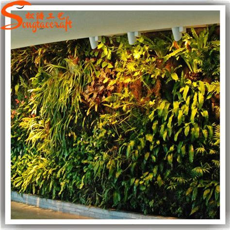 vertical garden green wall module artificial hanging wall