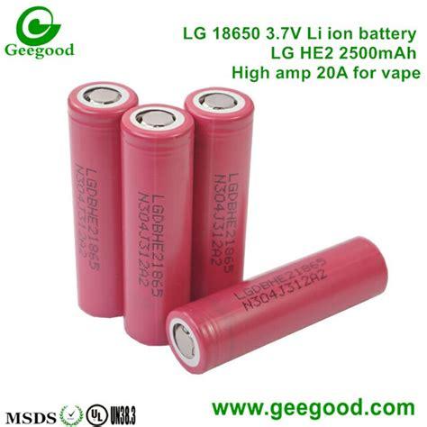 Baterai Lg He4 2500mah Original 18650 Not Samsung Awt Sony Vtc Lg Hg2 products shenzhen geegood technology co ltd