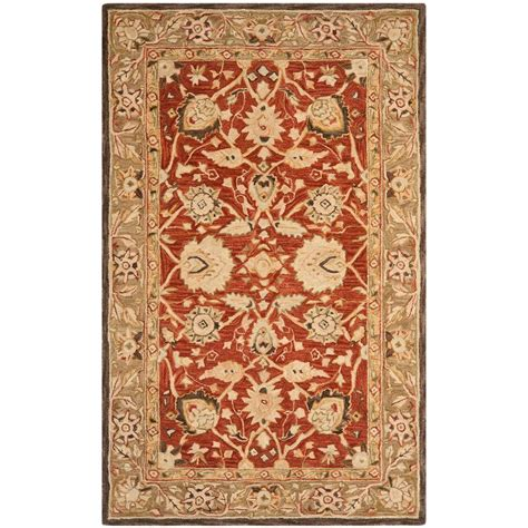 Rugs 6 Ft by Safavieh Anatolia Rust Green 6 Ft X 9 Ft Area Rug An512g