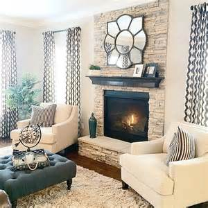 Shaped Living Room Fireplace The World S Catalog Of Ideas