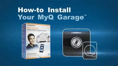 how to install chamberlain myq garage door opener