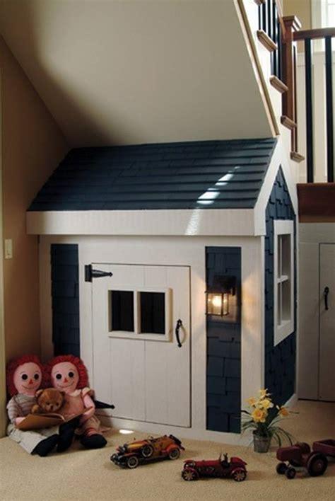kids indoor playhouse  stairs home design garden