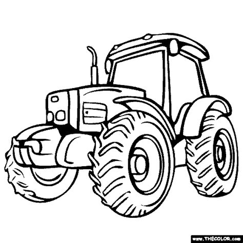 tractor outline coloring pages sketch coloring