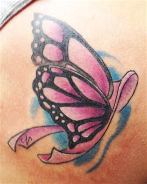butterfly tattoo cancer ribbon untitled by jason tattoonow