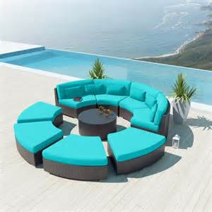 Rattan Upholstery Fabric 25 Contemporary Curved And Round Sectional Sofas