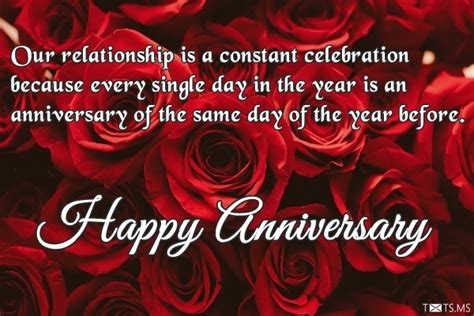 wedding anniversary wishes with roses our relationship is a constant celebration txts ms
