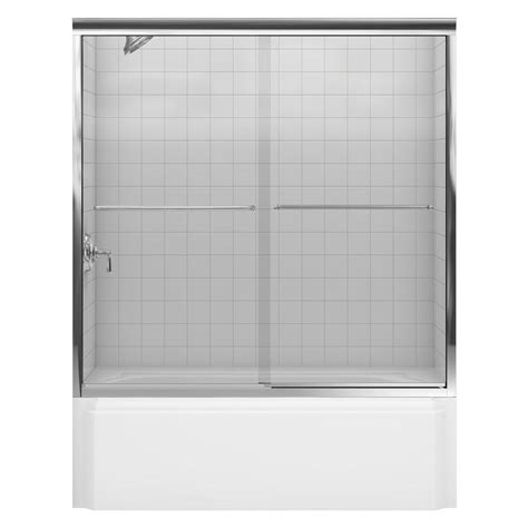 Kohler Sterling Shower Door Kohler Fluence 59 5 8 In X 58 5 16 In Semi Frameless Sliding Bathtub Door In Bright Polished