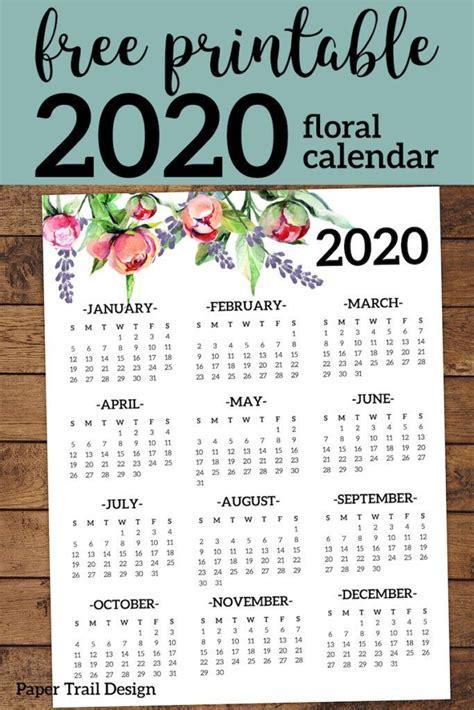 printable  calendar yearly  page floral  printable calendar  printables