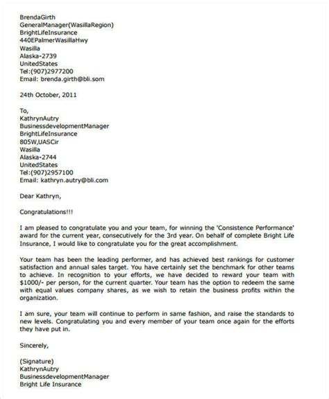 appreciation letter to sales team 42 appreciation letters in pdf sle templates