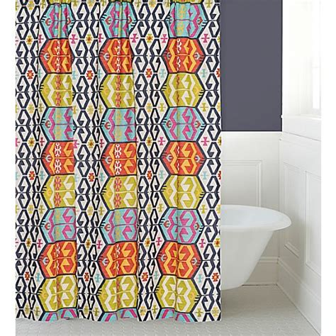 navy and red shower curtain levtex home moesha shower curtain in navy red bed bath