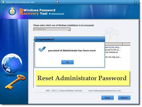 reset admin password on vista i forgot my administrator password for windows xp