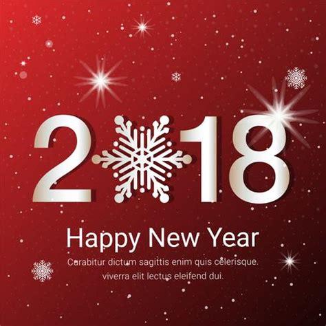 free new year greeting card design free flat design vector new year greeting card