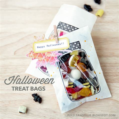 treat bag sweet treats treat bags pixels and glue