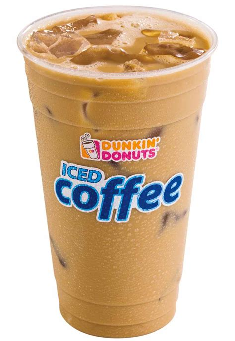 Iced Coffee Dunkin Donuts boston america runs on dunkin