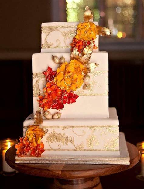 Wedding Cake Autumn by Autumn Wedding Cake Cakecentral
