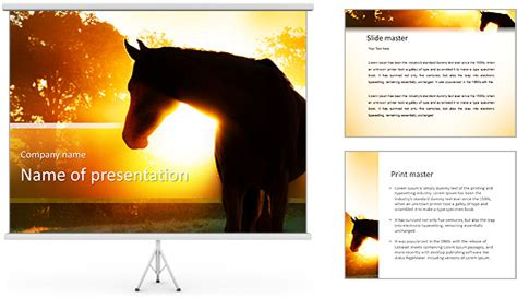 elite horse powerpoint template backgrounds id
