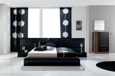 decoration chambre a coucher noir et blanc visuel 3