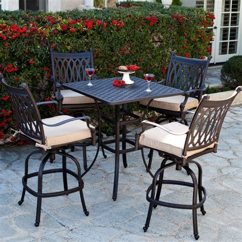 outdoor bar height dining table and chairs trying bar height patio table and chairs at home
