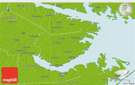 physical map of nc physical 3d map of pamlico county
