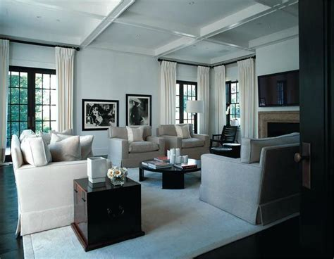 Dining Room Centerpieces Ideas Homey Transitional Living Amp Family Room By Kelly Hoppen