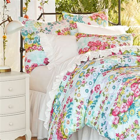 pbteen comforter beautiful blooms duvet cover sham pbteen