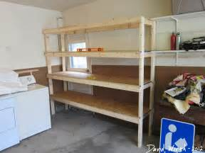 how to make shelving how to build a shelf for the garage