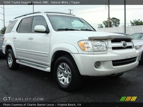 2006 Toyota Sequoia Limited White 2006 Toyota Sequoia Limited 4wd Taupe