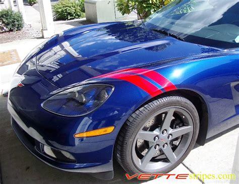 corvette fender stripes c6 fender hash stripes vettestripes