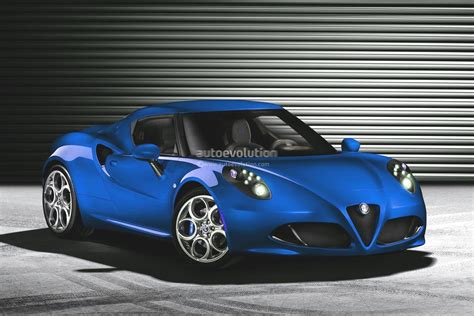 alfa romeo 4c looks in blue autoevolution