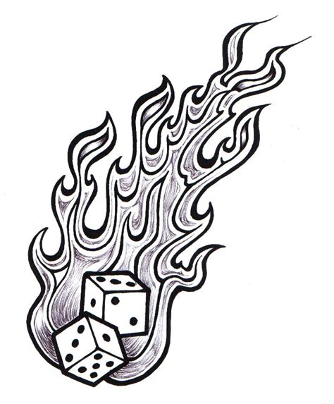 flaming dice by ppunker on deviantart