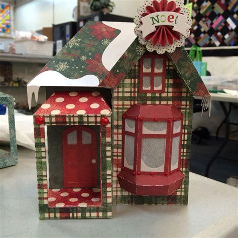christmas box house christmas version of snowy house box glitter houses pinterest christmas boxes
