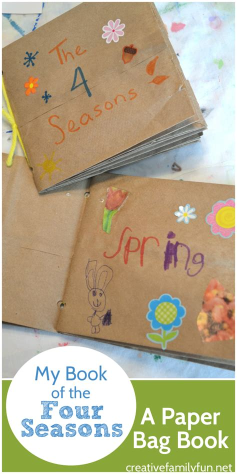 How To Make A Paper Book Bag - my book of the four seasons a paper bag book creative