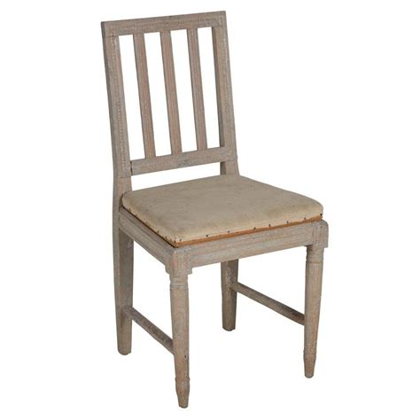 four painted gustavian dining chairs for sale at 1stdibs