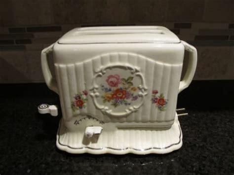 Ceramic Toaster porcelier scalloped flowers electric ceramic toaster vintage ebay