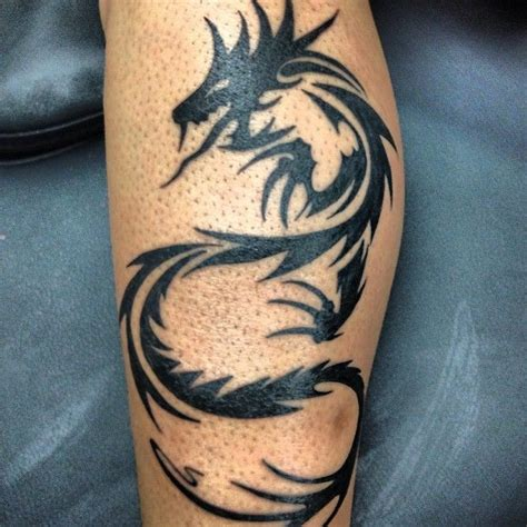 dragon thigh tattoo awesome tribal on leg cool designs